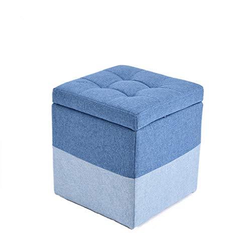 LJZslhei Hocker Kreative Multifunktionale Lagerung Hocker Mode Wohnzimmer Sofa Hocker Blau (Size : M)