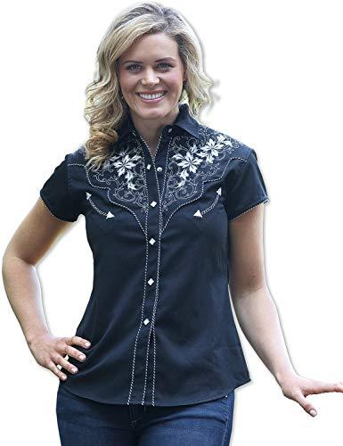 STARS & STRIPES Damen Bluse Westernbluse Bikerin Country Cowgirl Western Westernstyle »Isabel« Gr.XXL