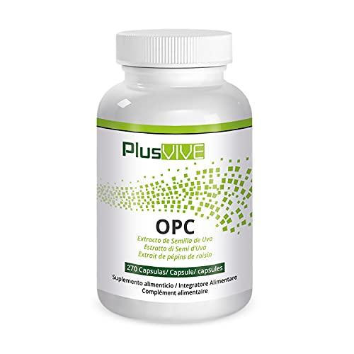Plusvive - Cápsulas OPC con extracto de semilla de uva francesa, 133 g