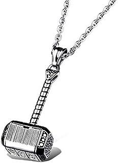 Hammer men's titanium steel necklace
