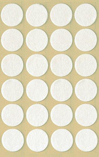 AVERY Zweckform 3707 Filzgleiter selbstklebend (Durchmesser 18 mm, 1 mm stark) 24 Etiketten weiß