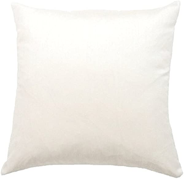 DreamHome Solid Faux Silk Decorative Pillow Cover Sham 18 X 18 White