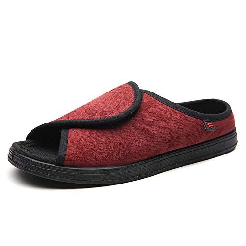 Nwarmsouth Zapatillas de pies hinchados,Zapatos de ensanchamiento Ajustables, Zapatos de enfermería para hinchazón y deformación del pie-36_Red,Zapatillas diabéticas Vendaje Zapatos
