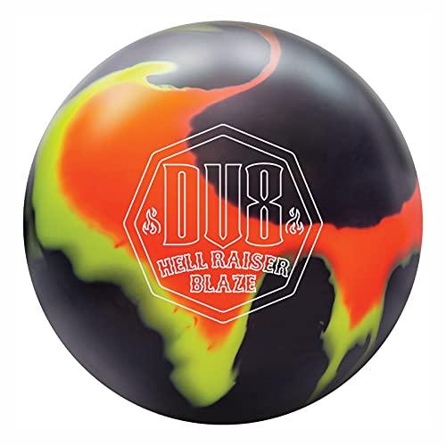 DV8 Hell Raiser Blaze Bowling Ball - Orange/Yellow/Black 14lbs