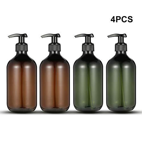 Dispensador de botellas de jab/ón para lociones y jabones caseros con gran capacidad de 500 ml para ba/ño y higiene en el hogar y desinfectante de manos 4 unidades