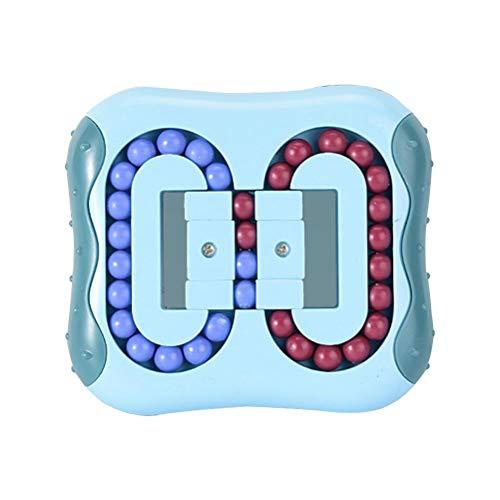 TiSkying Jouet de verrouillage en plastique, Rotation magique haricot soulagement du stress jouets doigt toupie jouet Intelligence casse-tête Puzzle jouets éducatifs pour enfants et adultes