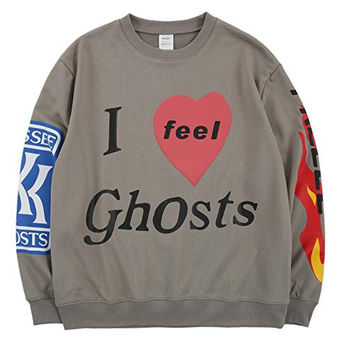 Kanye I Feel Ghosts Crewneck Sweatshirt,Grau,L