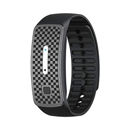DJRH Ultrasonic Anti-Mosquito Insect Pest Bug Repellent Bracelet Watch Wrist M1A6 (Black)