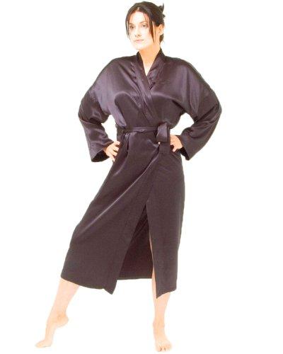 The House of Silk Plein Kimono de Soie Longueur - Taille: XL-XXL - Couleur: Noir