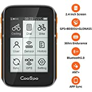 CooSpo Cycling Computer GPS Wireless Bike Computer Bicycle Speedometer Cycling Tracker Waterproof 2.4 Inch with Bluetooth ANT+