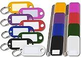 PEARL Schlüssel Schilder: 480 Schlüsselschilder mit Schlüsselringen, zum Beschriften, 8 Farben (Schlüsselring-Schlüsselanhänger)