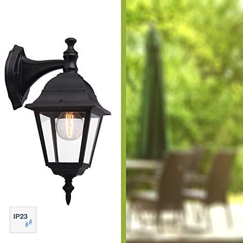Brilliant Newport Außenwandleuchte hängend regengeschützt schwarz, 1x E27 geeignet für Normallampen bis max. 60W