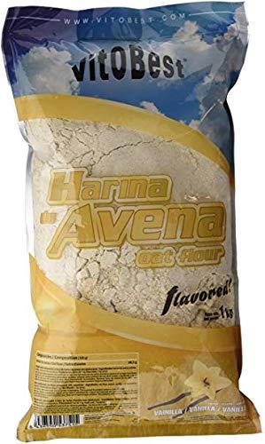 Harina de Avena Sabores Variados   Suplementos Alimentación y Suplementos Deportivos    (Fresa, 1 Kg)