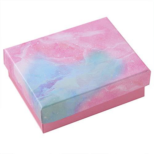 10 Stück Marmor-Karton mit Schwamm gefüllte Schmuck-Geschenk-Boxen für Schmuck, Ohrringe, Halsketten, handgefertigte Armreifen, Armbänder