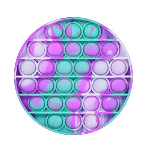 Hameio Silicona Sensorial Fidget Juguete, Pop-it Fidget Sensory Toy, Stress Relief Toy, Autismo Necesidades Especiales Aliviador del Antiestrés del Juguetes para Niños Adultos Relajarse, Tie-Dye