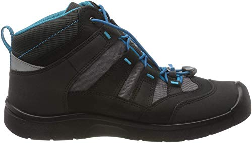 KEEN Unisex-Kinder Hikeport Mid, Imperméable Trekking- & Wanderschuhe, Schwarz (Black/Blue Jewel 001), 31 EU