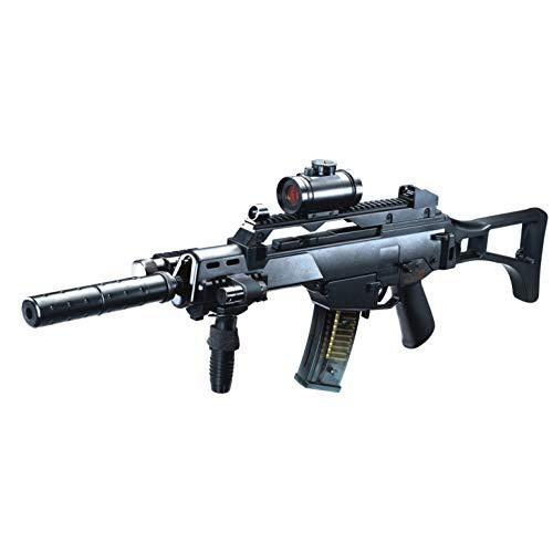 Rayline M85 Softair Gewehr elektrisch, Material: ABS (Stoßfest), Nachbau im Maßstab 1:1, Länge: 72cm, Gewicht: 1320g, Kaliber: 6mm, Farbe: Schwarz - (unter 0,5 Joule - ab 14 Jahre)