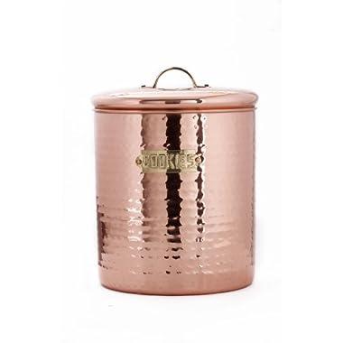 Old Dutch Hammered Copper Cookie Jar, 4 Qt.