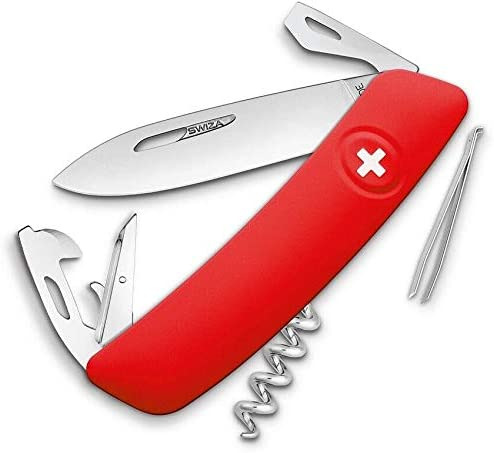 Gorgeous D03 Credence Swiss Multi Tool Pocket Stainless Steel Knife Synthetic Red