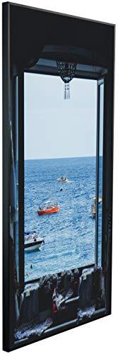 Ecowelle Infrarotheizung mit Bild | 600 Watt | 60x120x2 cm | Infrarot Heizung| | Made in Germany| d 125 Landschaft durch Fenster