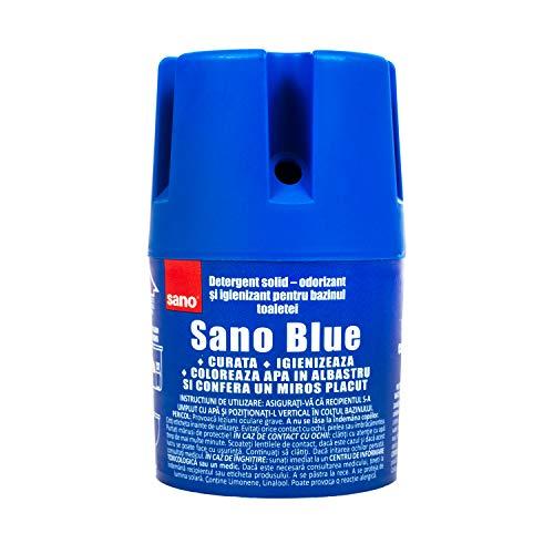 Sano Azul Ambientador WC Larga Duración Limpia Desinfectar Colores Agua 150 gr ( Pack de 1 )