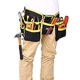 Werkzeuggürtel/Werkzeugtasche/Werkzeugschürze mit 11 Werkzeugtaschen, Oxford, wasserdicht, professionelle Werkzeugtasche mit verstellbarem Gürtel für Heimwerker,Elektriker,Schreiner,Bauarbeiter
