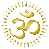 OM Stencil, 3.25 x 3.25 inch (S) - AUM Indian Mantra Sanskrit Hindu Spiritual Stencils for Painting Template