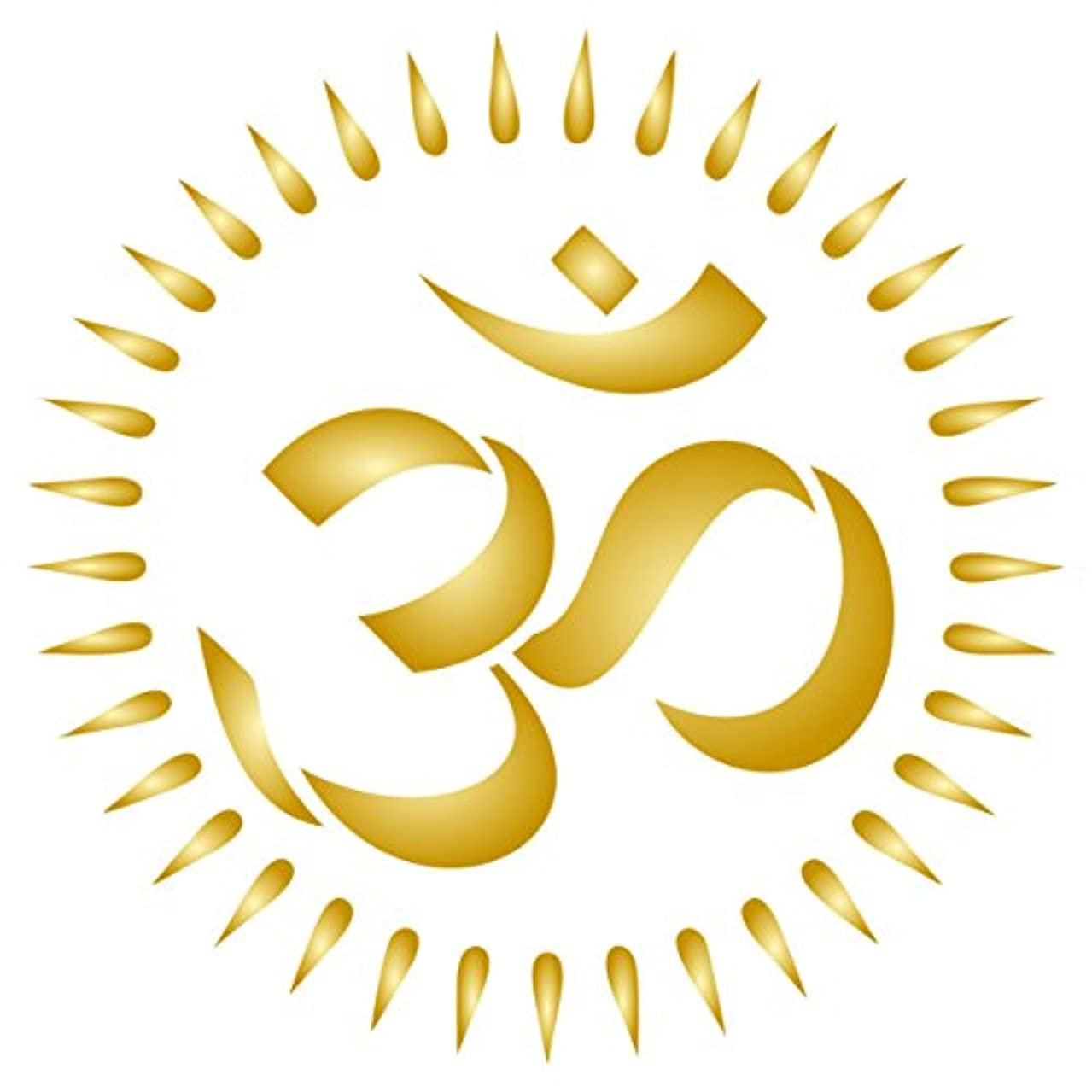 OM Stencil - 4.5 x 4.5 inch (M) - Reusable AUM Indian Mantra Sanskrit Hindu Spiritual Stencils for Painting - Use on Paper Projects Walls Floors Fabric Furniture Glass Wood etc.