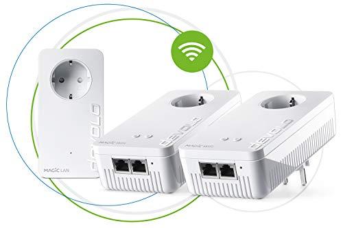 Devolo Magic 1 – 1200 WiFi ac Multiroom Kit: Set con 3adaptadores Powerline, función WiFi, adecuado para la Home Office (1200Mbit/s, 4 x conexiones Fast Ethernet LAN, malla, G.hn)