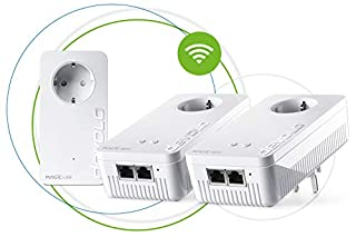 Devolo Magic 1 Wi-Fi - Multiroom Kit con 3 Adaptadores Powerline para una Red Wi-Fi Fiable a Través de Techos y Paredes Mediante los Cables de Corriente, Conexión en Red Mesh Inteligente (B07GTCH9JR) | Amazon price tracker / tracking, Amazon price history charts, Amazon price watches, Amazon price drop alerts