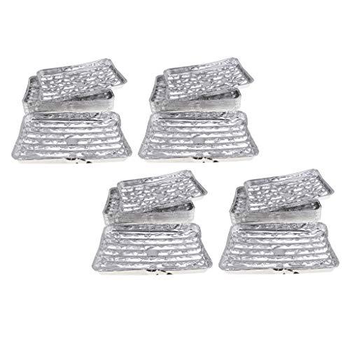 Amuzocity 80 Unids/Set Sartén de Papel de Aluminio Desechable para Carne, Marisco, Verduras, Picnic