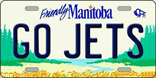 TammieLove Nummernschild, Motiv: Go Jets Manitoba Canada, 15 x 30 cm