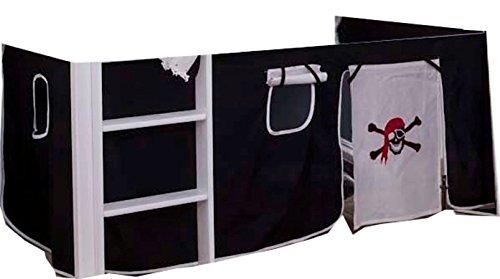 Unbekannt Vorhang für Hochbett Etagenbett Vorhang 2 TLG Pirat