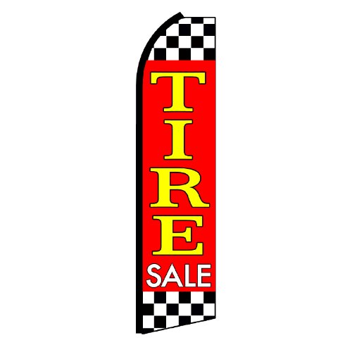 NEOPlex Tire Sale Checkered Swooper Flag