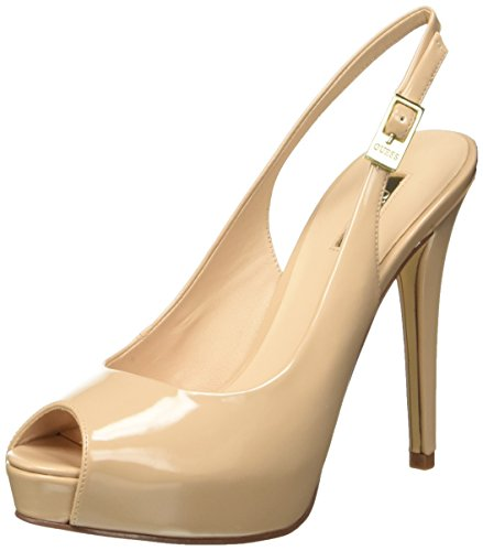 Guess Patent PU, Sandalias con Plataforma para Mujer, Beige (Nude), 40 EU