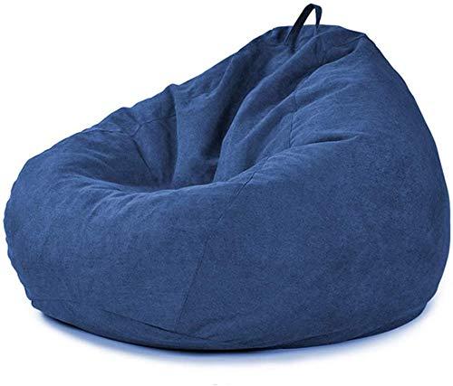 PAPAO Puf para la Sala, Dormitorio pequeño balcón Tela Grano Bean Bag reclinable Placer o de hogar o jardín Butaca de Juego,A