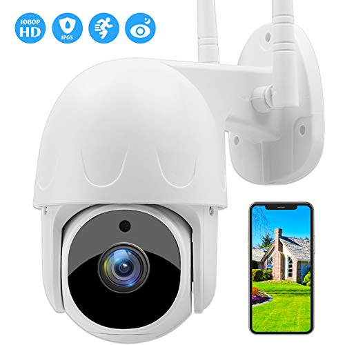 SOULLIFE Security Camera Outdoor, 1080P HD Wireless WiFi Home Surveillance Camera with Pan/Tilt 360° View Waterproof Night Vision, Motion Detection Home Security Camera