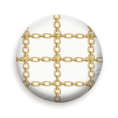 Eileen Powell Cadena de Oro barroca Repetir Oro The Arts Abstract Rueda de Repuesto Cubierta del neumático Impermeable A Prueba de Polvo Universal 16 Pulgadas