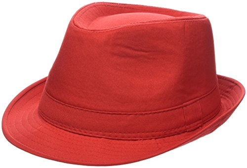 eBuyGB Unisex 1289805Sommer-Panama-Hut, Rot, Einheitsgröße