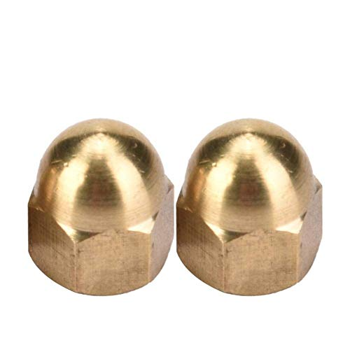 Kit de tuerca de bellota de latón con casquillo de cabeza de cúpula tuercas hexagonales fijadas para vehículos m3-m12 Fix neumáticos (M6)