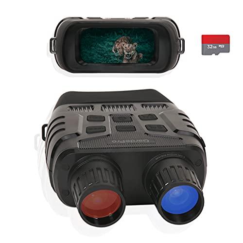 GardePro N3 Nachtsichtgerät Digital Nachtsichtbrille, 305m Langstrecke Infrarot, 16X Hybrid-Zoom, 2.4'' TFT LCD, HD 1280x960P Video und Foto mit 32GB Karte, für Spotting, Jagd, Überwachung