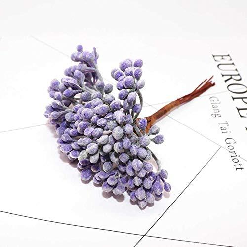 6st DIY scrapbooking kerst guirlande kunstplanten pompon kunstbloemen voor home decor handgemaakte nep groene planten, 28