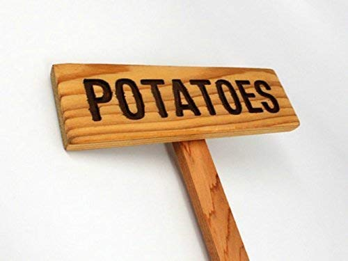 POTATOES Garden Max 77% OFF Marker Sign Industry No. 1 Painted Oil Seale