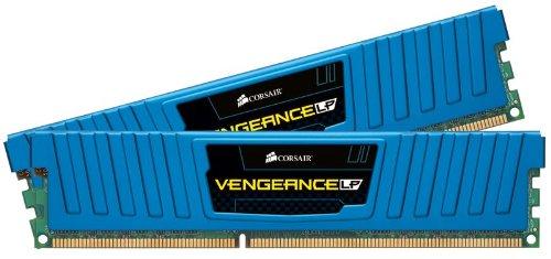 Corsair CML8GX3M2A1600C9B Vengeance Low Profile 8GB (2x4GB) DDR3 1600 Mhz CL9 XMP Performance Desktop Memory Blau