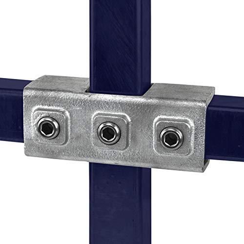 KLEMP Conexión de tubo cuadrado continuo conexión de tubo cuadrado de hierro fundido maleable de 40x40 mm Tipo 22S-40x40 mm