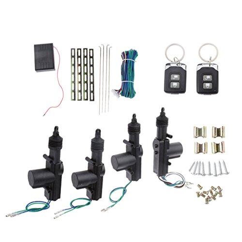 B Blesiya Kit de Entrada Sin Llave con Sistema de Seguridad con Bloqueo Centralizado con Control Remoto