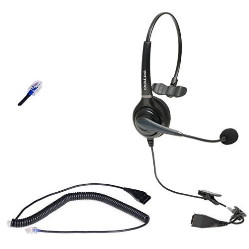 Call Center Headset for AASTRA, Allworx, Altigen, Avaya, NEC, Nortel meridian, Norstar, PolyCom, ShoreTel, Samsung and Talkswitch Telephones with RJ9 headset jack