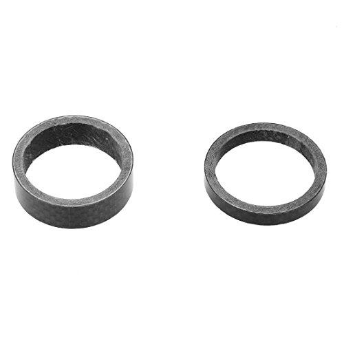 TOOGOO(R) Fahrrad Carbon Spacer Schwarz A-head 1-1/8″ Zoll Carbonspacer 5/10/15/20mm Set - 3