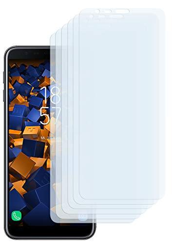 mumbi Schutzfolie kompatibel mit Samsung Galaxy J4+ Folie klar, Bildschirmschutzfolie (6X)