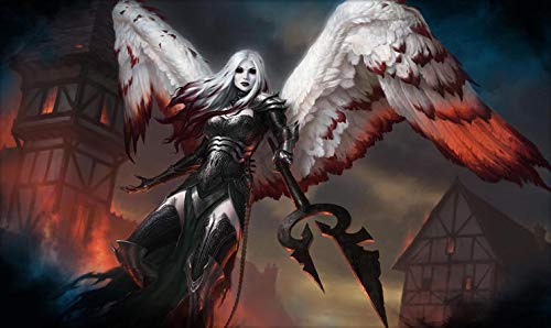 RFG REMOVE FROM GAME Angel Bloody Playmat 24 x 14 inch Mousepad for Yugioh Pokemon Magic The Gathering